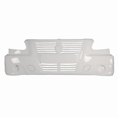 Бампер на Газель нового образца белый, с интегрированной решеткой Газель Бизнес / Соболь / Баргузин