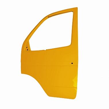 Боковая дверь Газель левая (желтая) пластиковая