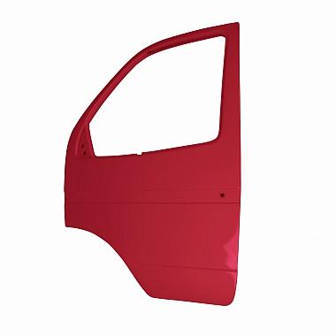 Боковая дверь Газель левая (красная Мальва) пластиковая