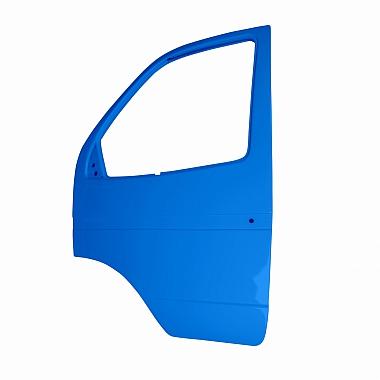 Боковая дверь Газель левая (синяя Марсель) пластиковая