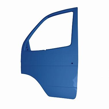 Боковая дверь Газель левая (синяя Балтика) пластиковая