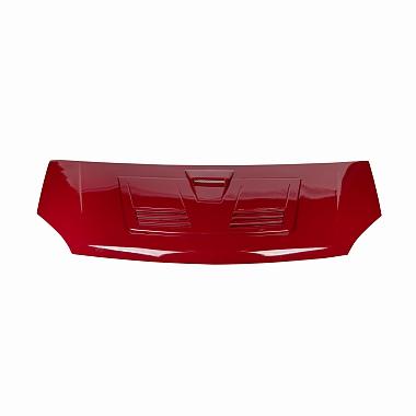 Капот Газель Некст пластиковый с воздухосборником в цвет (красный Чили)