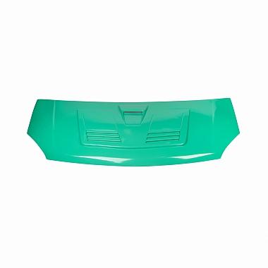 Капот Газель Некст пластиковый с воздухосборником в цвет (зеленый Кипр)