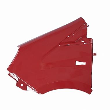 Крыло переднее левое пластмассовое окрашенное красное (Чили) Газель Некст