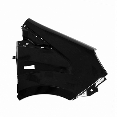 Крыло Газель Некст, правое, окрашенное черное (пластик)